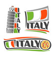 logo for italy vector image
