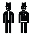 man cartoon black and white vector image vector image
