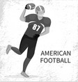 man forward running with ball american football vector image vector image