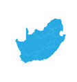 map of south africa high detailed map - south vector image vector image