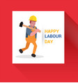 may first workers day vector image vector image