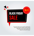 Modern trendy black friday sale card poster vector image