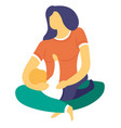 mother and baon her lap newborn family isolated vector image vector image