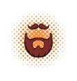 Mustache and beard comics icon vector image vector image