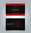 namecard template technology red and black vector image