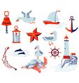 nautical objects vector image vector image