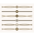 Nautical vintage rope dividers vector image vector image