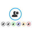 neuro interface rounded icon vector image vector image