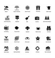 ocean and sea life glyph icons 1 vector image vector image