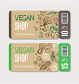 organic market kit coupon vector image vector image