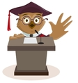 Owl professor said from podium vector image vector image