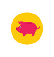 piggy bank - concept colored icon in flat graphic vector image