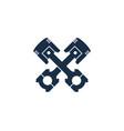 piston automotive logo icon design vector image