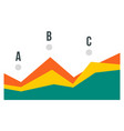 point chart icon flat style vector image