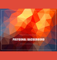 polygonal background mock-up vector image vector image