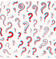 question mark seamless pattern doodle style vector image
