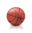 realistic basketball ball isolated on white vector image