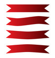 red ribbon banner icon on white background red vector image
