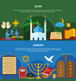 religions flyer set vector image vector image