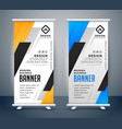 roll up banner stand design set vector image vector image