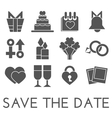 save the date set Flat design vector image vector image