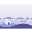 Seamless Cartoon Nature Arctic Landscape vector image vector image