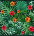 seamless hand drawn tropical pattern vector image