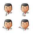 set of businessman cartoon with different gestures vector image vector image