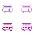 Set of stickers British double-decker bus on white vector image vector image