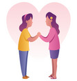 sisters holding hands vector image vector image