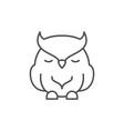 sleeping owl line outline icon vector image