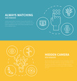 Surveillance Graphic Elements vector image