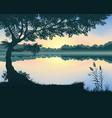 the lake vector image