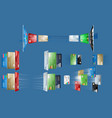 the various bank cards in vector image vector image