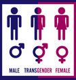 transgender male set of symbols isolated on vector image vector image