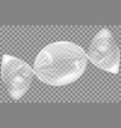 transparent plastic wrap for candy polyethylene vector image