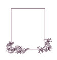 vintage cute floral frame vector image vector image