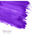 violet purple watercolor brush strokes texture vector image vector image