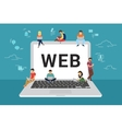 Web site surfing concept vector image