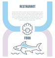 website banner and landing page restaurant food vector image