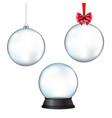 xmas balls set with isolated white background vector image