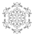 zentangle snow flake elegant mandala for adult vector image vector image