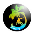 abstract icon of surfing vector image