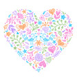 colorful valentines heart vector image