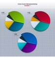 set of colorful pie charts - for your presentation vector image
