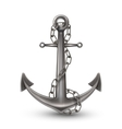 Anchor With Chain Realistic Style vector image vector image
