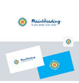 atoms logotype with business card template vector image vector image