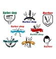 Barber shop signboard designs vector image vector image