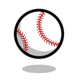 baseball softball sport ball logo line 3d icon vector image