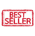 best seller rubber stamp text vector image